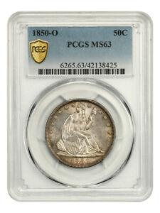 1850-O 50c PCGS MS63 - Popular O-Mint - Liberty Seated Half Dollar