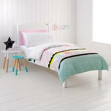 Kids Girls Double Bed Zarah Pink Pastel Geometrical Print Quilt Doona Cover Set