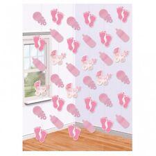 (0,35€/m) 6 DECKENHÄNGER Baby Shower rosa Dekoration Geburt Party neu geboren