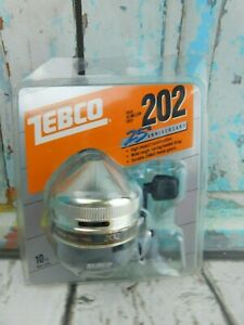 Vintage 1986  Zebco  202  25th Anniversary New in Pack Made in USA Rare NOS