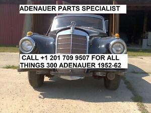 Vintage Mercedes Benz 300 Adenauer a b c d s sc Parts, Good Parts. Great Prices!