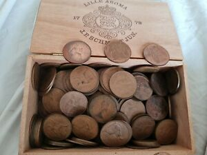 JOB LOT BULK ENGLISH OLD ONE PENNY COINS All 1960s