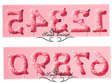 Numbers Designed Floral Mould Mold Cake Chocolate decorating Candle soap making