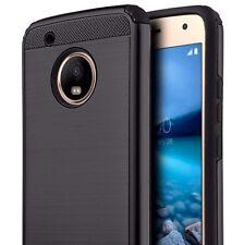 For Motorola Moto G5+ Plus - HYBRID SHOCKPROOF SILK ARMOR PHONE CASE COVER BLACK