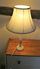 Immaculate LAURA ASHLEY cream CANDLESTICK Table LAMP & SHADE (Fully Working)