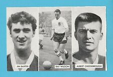 FOOTBALL - D.C. THOMSON -  CUP - TIE  STARS  OF  ALL  NATIONS  CARD  (B) -  1962