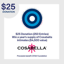 $25 Donation = 250 Entries: Win Year Supply Cosabella Intimates ($4500 Value)