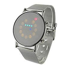 Luxury Men Digital Watch LED Light Stainless Steel Fashion Wrist Watch Christmas