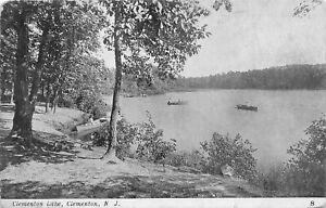 H59/ Clementon New Jersey Postcard 1916 Clementon Lake Boats