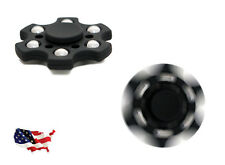 Fidget Spinner Premium EDC 6 Arm with R188 Bearing Quiet, Fast, Durable - Black
