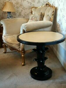 """Andrew Martin """"Gatsby Accent Table  RRP £900. Hand Carved Base Huge Saving"""