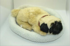 Pug Dog Simulation Plush Breath Toy Very Soft Snore Lifelike Birthday Gift