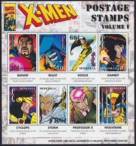 Marvel Comics X-Men Postage Stamp Collectors Sheet of 8 - Mongolia