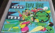 Beat Time William  flipper machine US Backglass pinball reproduction ( 2nd Chs)