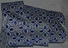 Wired Ribbon~Jazz Blue Sparkle Arabesque~Christmas Silver~Wreath~Holiday~Bow