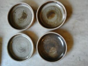 4 x Small Studio Pottery Dishes by Leach Pottery in St Ives - No Reserve