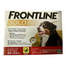 FRONTLINE GOLD FOR DOGS ( ONLY ON DOGS 89 - 132 LBS) 6 MONTHS SUPPLY