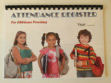 Attendance Register A4 for Nursery, childminder, after school clubs 1 YEAR