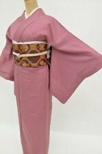 @Japanese vintage Kimono + Nagoyaobi+Obijime+Obiage (4set)Purple 3nfuji31213