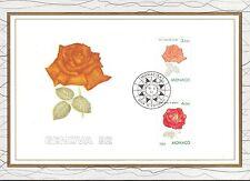 MONACO CEF PREMIER JOUR 1992 TIMBRE N° 1839 . 1840 GENOVA ROSE FLEURS