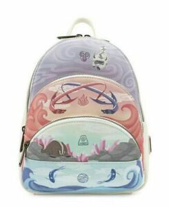 ??Loungefly Exclusive Mini Avatar Last Airbender 4 Elements Lounge Fly Backpack