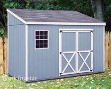 4' x 10' Slant / Lean To Style Shed Plans / Building Blueprints & Guides # E0410