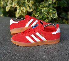 BNWB & Genuine Adidas Originals ® Gazelle Indoor Red Suede Trainers UK Size 9.5
