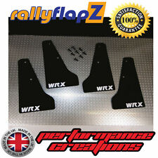 Miniflapz Subaru Impreza (01-07) Splash guardie qty4 NERO (Bianco WRX) 3mm PVC