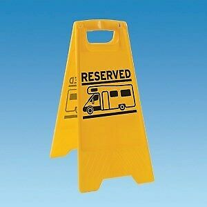 Reserved Sign Caution Board Caravan and Motorhome