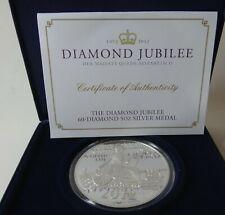 5oz solid .999 silver proof coin set 60 diamonds Ltd. ed. 2012 boxed & COA -1229