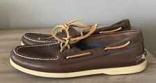 SPERRY TOP-SIDER Brown Loafer Tie Shoes Mens Size 10 M