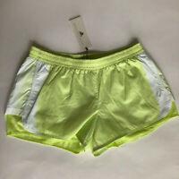 Adidas Stella McCartney Womens M NWT M20 Shorts Athletic yellow white mesh NEW