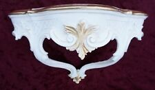 Wall Bracket Baroque White-gold Shelf board 30x16 Mirror Table Antique CP69