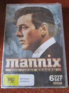 DVD MANNIX THE FIRST SEASON BRAND NEW SEALED 6 DVD SET  *** MUST SEE ***