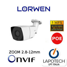 Lorwen IP Camera Videocamera Onvif WP7942T5 4K Varifocale WDR h265 5mpx ultra HD