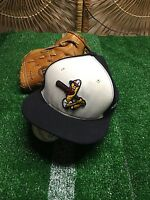New Era Toledo Mud Hens Cream/Navy Alternate 2 Authentic 59FIFTY Fitted Hat h4