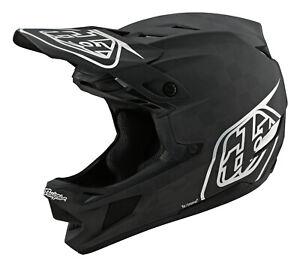Troy Lee Designs D4 CARBON Helmet W/MIPS STEALTH BLACK / SILVER