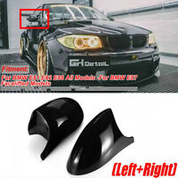 For BMW E81 E82 E88 All Models & E87 Gloss Black Car Rear View Mirror Cap Covers