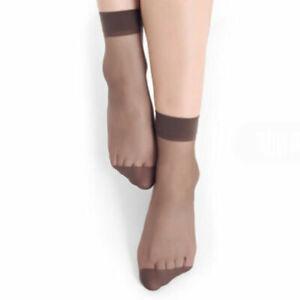 10 Pairs Women's Ankle Socks Sexy Ultra-thin Elastic Silky Short Silk Stocking#