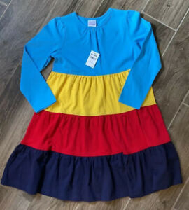 HANNA ANDERSSON Colorful Long Sleeve Dress NWT size 120 or 6-7