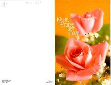 "Wedding Bulletin Peach Roses, Orange, Greenary 8 1/2"" x 11""  PACK OF 50"