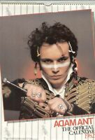 ADAM ANT OFFICIAL 1982 vintage calendar, never used.  official,ADAM AND THE ANTS
