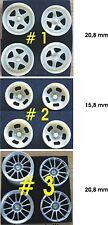 1:24 Felgen Inlays für Töpfchen Felgen ,aus 30 Varianten wählbar