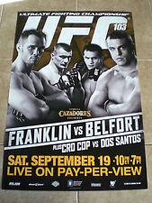 "UFC 103 FRANKLIN VS BELFORT MINI SIZE POSTER 8.5""X 11"""