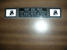 MIKE TYSON (BOXING) ENGRAVED NAMEPLATE FOR PHOTO/POSTER/GLOVES/TRUNKS