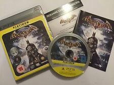 PAL PLAYSTATION 3 PS3 GAME BATMAN ARKHAM ASYLUM +BOX INSTRUCTIONS / COMPLETE