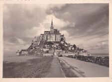 Beautiful original photograph of mont saint michel taken in the years 50