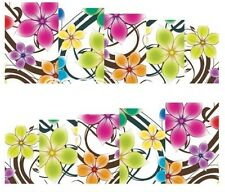 Nail Art Decals Transfers Stickers Multicoloured Flowers (A-162)