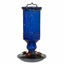 Perky-Pet 8117-2 Cobalt Blue Antique Bottle 16- Oz Hummingbird Nectar Feeder