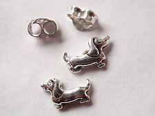 Dachshund Stud Earrings 925 Sterling Silver Corona Sun Jewelry dog puppy love